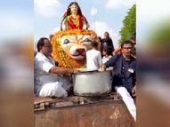 दमोह में विसर्जन यात्रा में उत्साह के साथ उमड़ा जनसैलाब मध्य प्रदेश,Madhya Pradesh - Money Bhaskar