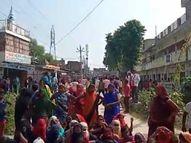 अफवाह उड़ी थी पुलिस की पिटाई से थाने में युवक की मौत हो गई|गाजीपुर,Ghazipur - Money Bhaskar