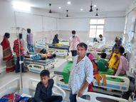 एक की मौत, 3 दर्जन से ज्यादा लोग अस्पताल में भर्ती|संतकबीर नगर,Sant Kabir Nagar - Money Bhaskar