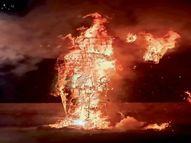 नवरात्रि पर सुहागनों ने खेली सिंदूर की होली, विजयादशमी में बुराई के प्रतीक को जलाया|भिलाई,Bhilai - Money Bhaskar