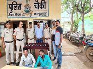 मोबाइल दुकान में चोरी करने वाले आरोपी गिरफ्तार, 40 हजार रुपए से अधिक के मोबाइल फोन जब्त|भिलाई,Bhilai - Money Bhaskar