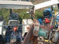 मूर्ति विसर्जन कर के लौट रहे ट्रैक्टर ने ट्रैक्टर को मारी टक्कर, एक घायल मध्य प्रदेश,Madhya Pradesh - Money Bhaskar