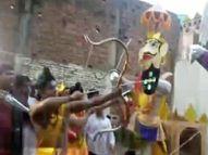 पटना में राम के साथ सिर्फ लक्ष्मण की थी व्यवस्था, भीड़ देख घबरा गए आयोजक पटना,Patna - Money Bhaskar
