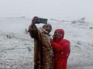10 दिन साफ रहने के बाद बारिश; पहाड़ों पर हल्का-हल्का हिमपात, तापमान में भी आई गिरावट|शिमला,Shimla - Money Bhaskar