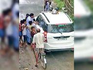 मिलने से पहले ही जिला परिषद प्रत्याशी चुनाव चिह्न का करने लगे प्रचार-प्रसार पूर्णिया,Purnia - Money Bhaskar