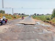 स्टेट हाईवे पर गड्ढ़ों से हादसे की आशंका|सादुलपुर,Sadulpur - Money Bhaskar