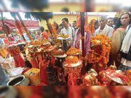 450 देव-विग्रहों को दी गई विदाई, आज विदा होगी माईंजी की डोली जगदलपुर,Jagdalpur - Money Bhaskar