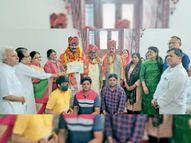 दरभंगा विधायक सरावगी का लक्ष्मणगढ़ में संगठनों के पदाधिकारियों ने किया स्वागत|सीकर,Sikar - Money Bhaskar