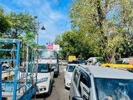 चौकाघाट-अर्दली बाजार तक ड़ेढ घंटे से जाम, गलत साइड से घुसी PAC ट्रक|वाराणसी,Varanasi - Money Bhaskar