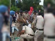 ग्वालियर में ट्रेन रोकने जा रहे किसानों को पुलिस ने रोका, घसीटते हुए 40 को किया गिरफ्तार ग्वालियर,Gwalior - Money Bhaskar