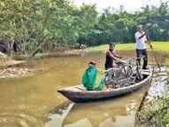 पुलिया में डायवर्सन नहीं बनने से आवागमन में परेशानी सहरसा,Saharsa - Money Bhaskar