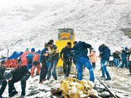 सर्दियों का आगाज, मौसम का ठंडा हुआ मिजाज; मैदानों में बारिश, रोहतांग और मनाली की चोटियों पर हिमपात|शिमला,Shimla - Money Bhaskar