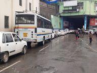 पहाड़ी से मलबा आने से बंद हुई सड़क; कांग्रेस भवन से शुरू हुई वाहनों की कतारें 103 टनल तक पहुंचीं|शिमला,Shimla - Money Bhaskar