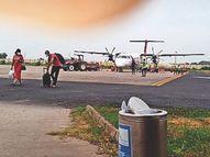 फ्लाइट से सफर करने वाले यात्री 4 माह में 3 गुना से ज्यादा बढ़े जून में 5,262 तो सितंबर में 17,273 यात्री ग्वालियर आए और गए ग्वालियर,Gwalior - Money Bhaskar