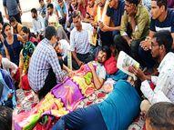 जयपुर में दसवें दिन भी बीएसटीसी अभ्यर्थियों का धरना जारी, रीट लेवल-1 से बीएड धारियों को बाहर करने की है मांग|जयपुर,Jaipur - Money Bhaskar