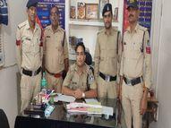 पुलिस को देखकर भागा युवक, तलाशी लेने पर निकला अवैध हथियार, मामला दर्ज|दतिया,Datiya - Money Bhaskar