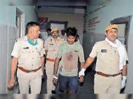 हत्या के आराेप में फरार चल रहा शैंपी फायर से घायल अवस्था में एकता पार्क में मिला श्रीगंगानगर,Sriganganagar - Money Bhaskar