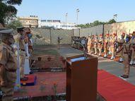 पुलिस लाइन में शहीदों को श्रद्धांजलि अर्पित कर उनके सम्मान में दो मिनट का मौन रखा गया अजमेर,Ajmer - Money Bhaskar