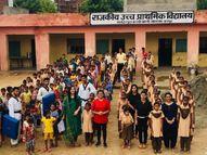 जन सहयोग से सरकारी स्कूल को बना दिया मॉडल स्कूल,बच्चियों को सिखाए आत्मरक्षा के गुर जयपुर,Jaipur - Money Bhaskar