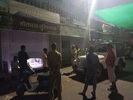 मैन बाजार में दुकान का शटर तोड़कर घुसे चोर, 500 मीटर दूरी पर पुलिस का रात्रि गश्त पॉइंट राजस्थान,Rajasthan - Money Bhaskar