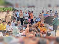 अंबे माता का 5 दिनी गरबा उत्सव मनाया, समापन पर पूजन-आरती कर ज्योत का विसर्जन किया|बागली,Bagli - Money Bhaskar