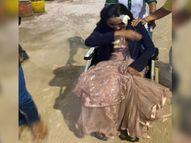 इवेंट मैनेजर पर एक्टिवा सवार युवती ने झपट्टा मारकर लूटी चेन, विरोध पर सिर, चेहरे पर कट्टे के बट से हमला|ग्वालियर,Gwalior - Money Bhaskar