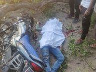 धमतरी-रायपुर रोड पर हादसा, सिर पर टूट कर गिरी डाल, दोस्त घायल; गुस्साए लोगों ने लगाया जाम धमतरी,Dhamtari - Money Bhaskar