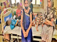 डेंगू-वायरल की डरावनी तस्वीर; चाचा नेहरू अस्पताल में एक-एक बेड पर 3-3 बच्चे भर्ती|इंदौर,Indore - Money Bhaskar