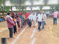 पहले दिन कबड्डी के चार मुकाबले, 17 वर्ष आयु वर्ग में कानापुरा व जोड़ली की टीमें विजेता|करौली,Karauli - Money Bhaskar