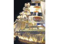 छोटी चौपड़ पर इस बार सजाया जा रहा है टाइटेनिक जैसा दिखने वाला 5 मंजिला सुनहरा देवदिव्य जहाज|जयपुर,Jaipur - Money Bhaskar