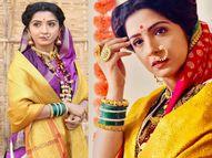 गौतमीबाईंच्या भूमिकेतील स्नेहलतासाठी तयार करण्यात आल्या खास साड्या, साड्यांमध्ये महाराष्ट्रीयन खणासह लेस, रेशीम, ब्रॉकेडचे मिश्रण टीव्ही,TV - Divya Marathi