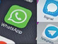 देशात व्हॉट्स अॅपचे डाऊनलोड 7 दिवसांत 35% घटले, 40 लाखांवर मोबाइलवर सिग्नल-टेलिग्राम डाऊनलोड|टेक,Tech - Divya Marathi