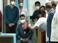 दिल्ली एम्सच्या हेल्थवर्करला दिली पहिली व्हॅक्सीन, मोदी म्हणाले - 'पहिले 3 कोटी लोकांना लस दिली जाणार, 100 देशांची लोकसंख्या यापेक्षा कमी'|देश,National - Divya Marathi