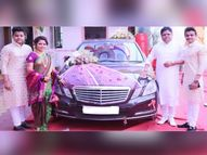 लग्नात कार्तिका गायकवाडला वडिलांनी भेट दिली Mercedes E Class, फोटो शेअर करत म्हणाली...|मराठी सिनेकट्टा,Marathi Cinema - Divya Marathi