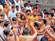 'आई राजा उदो उदो'च्या जयघोषात तुळजाभवानी मंदिरात घटस्थापना उस्मानाबाद जिल्हा,Osmanabad - Divya Marathi