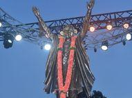 मुख्यमंत्री उद्धव ठाकरे, शरद पवार यांच्या हस्ते बाळासाहेब ठाकरेंच्या पूर्णाकृती पुतळ्याचे अनावरण|मुंबई,Mumbai - Divya Marathi