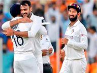 पिंक बॉल कसाेटीच्या पहिल्या दिवशी इंग्लंडचा पहिल्या डावात 112 धावांत खुर्दा; सात फलंदाज सपशेल अपयशी; क्राऊलीचे अर्धशतक क्रिकेट,Cricket - Divya Marathi