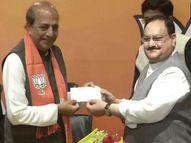 दिनेश त्रिवेदींचा BJP मध्ये प्रवेश, नड्डा म्हणाले - 'योग्य व्यक्ती चुकीच्या पक्षात होती' देश,National - Divya Marathi