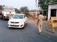 महाराष्ट्रातील वाहनांना गुजरातमध्ये प्रवेश नाही, गुजरात पोलिसांनी वाहने परतवली; कोरोना निगेटीव्ह रिपोर्ट बंधनकारक|नंदुरबार,Nandurbar - Divya Marathi