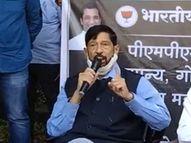 पुण्यातील कठोर निर्बंधांच्या पहिल्याच दिवशी भाजपचे आंदोलन, खासदार गिरीश बापट कार्यकर्त्यांसह पोलिसांच्या ताब्यात|पुणे,Pune - Divya Marathi