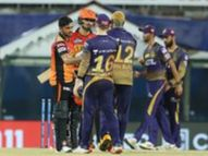 काेलकाता नाइट रायर्डस संघ विजयी; हैदराबाद संघावर केली मात, 10 धावांनी 100 वा विजय साजरा|IPL 2021,IPL 2021 - Divya Marathi