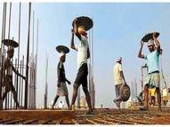 अकरा लाख बांधकाम कामगारांना लॉकडाऊनमध्ये रोजी अन् रोटीही नाही, नूतनीकरण नसल्याने पंचाईत, 23 पैकी 12 लाख नोंदणीकृत कामगार|औरंगाबाद,Aurangabad - Divya Marathi