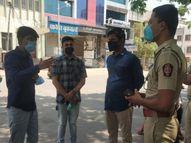 संचारबंदीत कोरोना रुग्णाच्या नातेवाईकाला अडवल्यावरुन आमदार प्रशांत बंब आणि पोलिसांमध्ये वाद|औरंगाबाद,Aurangabad - Divya Marathi