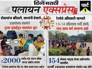 UP-बिहारमध्ये जाण्यासाठी जागा न मिळाल्याने दुप्पट दंड भरत आहेत लोक, म्हणाले - या शहरात आता मन रमत नाही ओरिजनल,DvM Originals - Divya Marathi