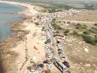 સૌરાષ્ટ્રનાં ધાર્મિક-ફરવાલાયક સ્થળો પર માનવ મહેરામણ ઊમટ્યું, દ્વારકાધીશ મંદિરમાં સોશિયલ ડિસ્ટન્સના ધજાગરા, રોપવેમાં લોકોની ભીડ, શિવરાજપુરના દરિયાકાંઠે લોકો ઊમટ્યા દ્વારકા,Dwarka - Gujarati News