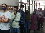 દિવાળી પછી કોરોનાનું સંક્રમણ વધતા વડોદરામાં ટેસ્ટીંગ માટે લાઇનો લાગી, 1125 બેડથી સજ્જ સયાજી-ગોત્રી હોસ્પિટલમાં હજી 860 બેડ ખાલી|વડોદરા,Vadodara - Gujarati News