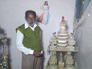 ડાંગનાં નિવૃત્ત શિક્ષકે કાચની વેસ્ટ બોટલમાંથી આકર્ષક મંદિરો અને જોવાલાયક સ્થળો બનાવ્યાં|આહવા,Ahwa - Gujarati News