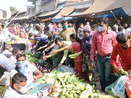 ભારે ધસારાથી અમદાવાદમાં રોજ કરતાં 2 લાખ લિટર વધુ દૂધ વેચાયું, શાકભાજીના ભાવ દોઢા વસૂલાયા|અમદાવાદ,Ahmedabad - Gujarati News
