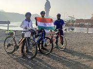 વૃક્ષો બચાવવાના અભિયાન સાથે નાસિકથી SOUની સાયકલ યાત્રા|રાજપીપળા,Rajpipla - Gujarati News
