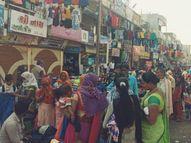 ઘોઘંબા - સંતરામપુરનાં હાટમાં ટોળાંઓ ઉમટ્યા: સોશિયલ ડિસ્ટન્સનો ભંગ સંતરામપુર,Santrampur - Gujarati News